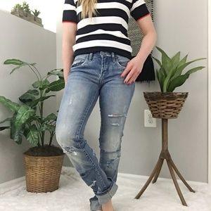 Blank NYC Distressed Destroyed Boyfriend Jeans 25